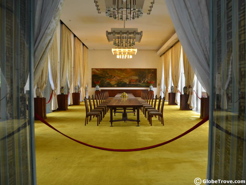 Presidential palace in Ho Chi Minh city in Vietnam