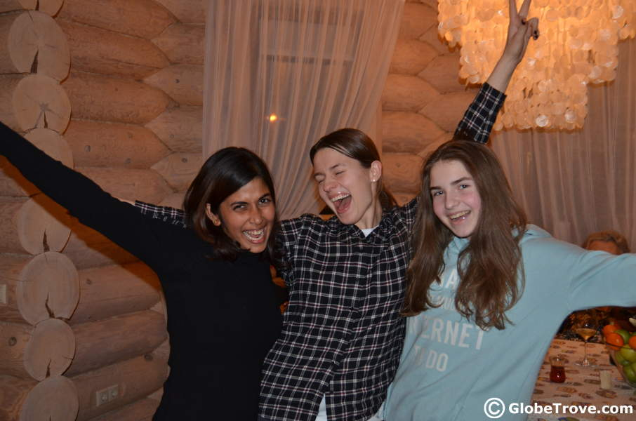 Girls know how to have fun in the Russian Dacha