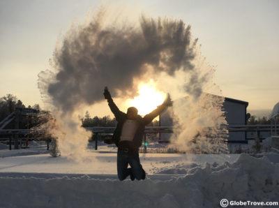 Working in Siberia