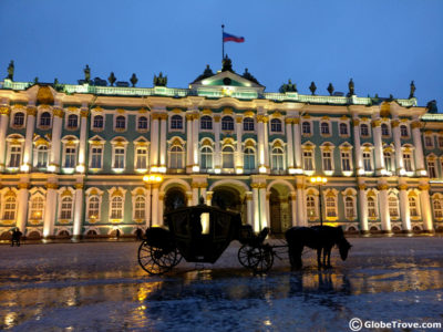 The State Hermitage museum in St. Petersburg Russia