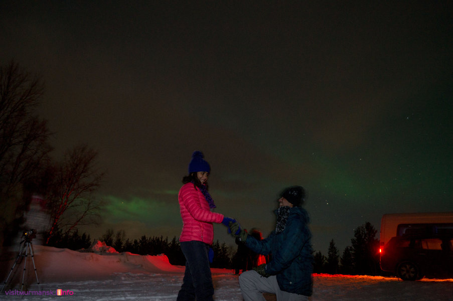 Murmansk northern lights tour