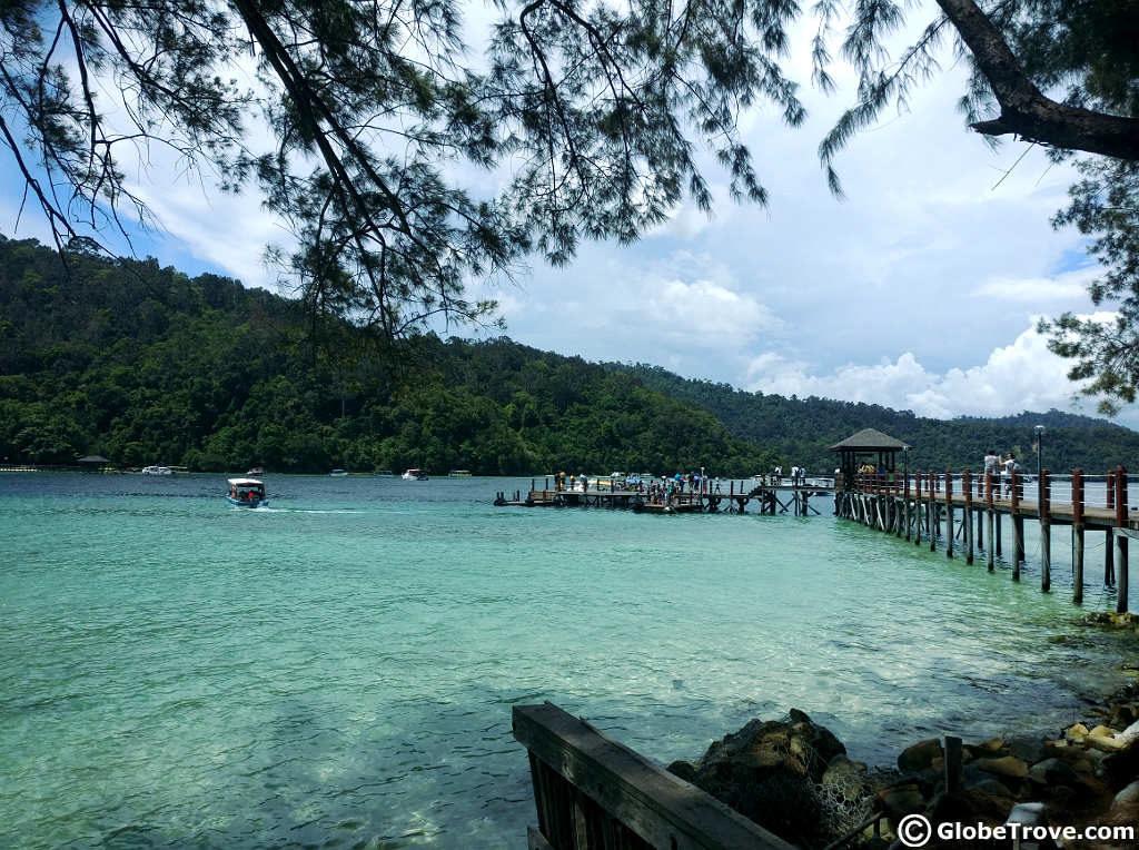 Island hopping in Tunku Abdul Rahman Park