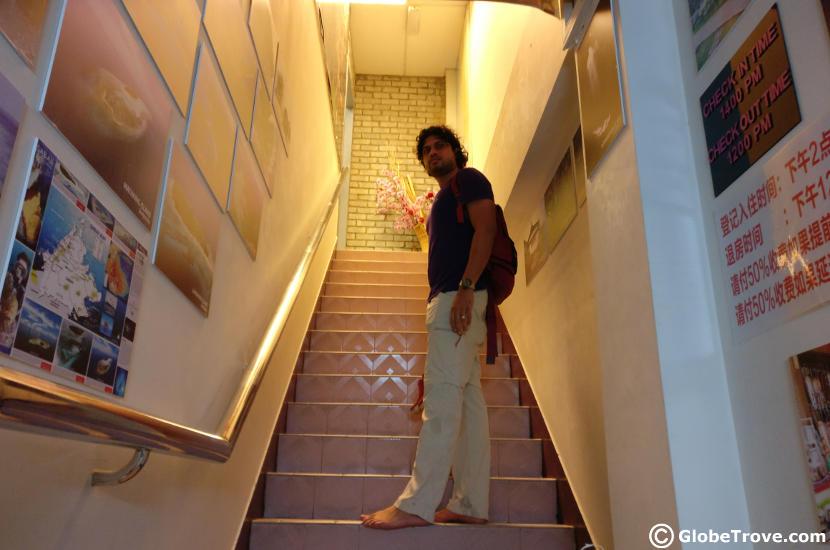 Inside the Masada Backpacker hostel in Kota Kinabalu