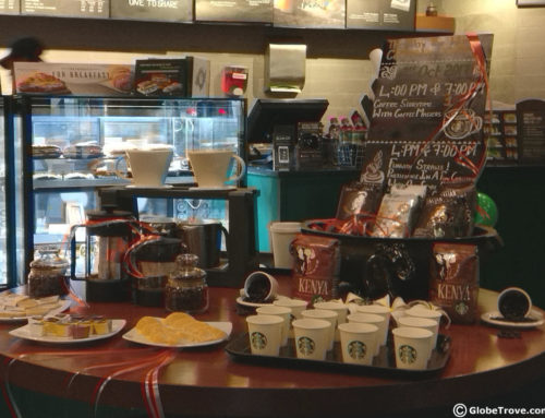 Celebrating The 3rd Anniversary Of A Starbucks Coffee Shop