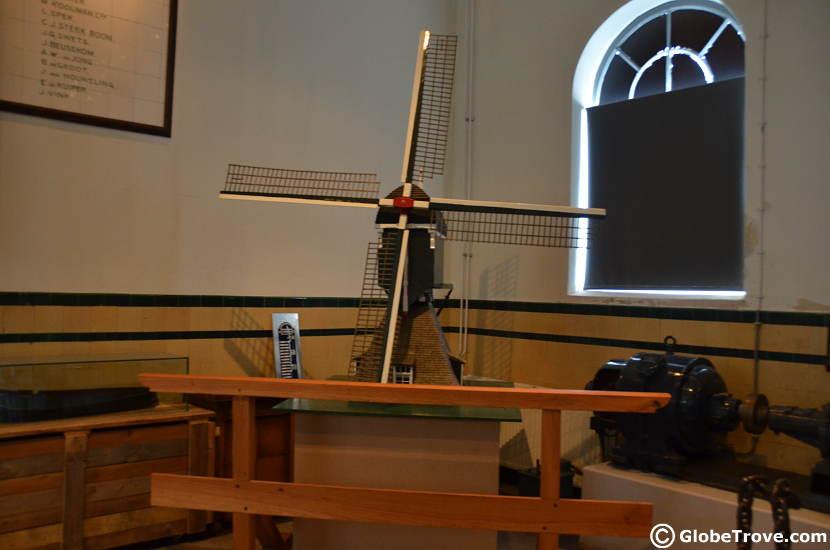 A model of the Kinderdijk windmills