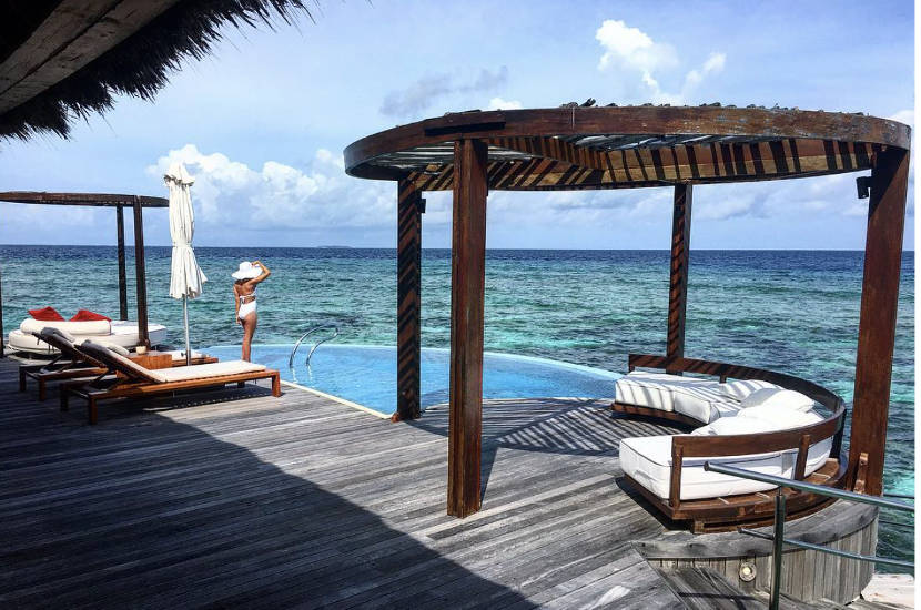 When asked about the best summer destinations in Asia, Mona chose Maldives.