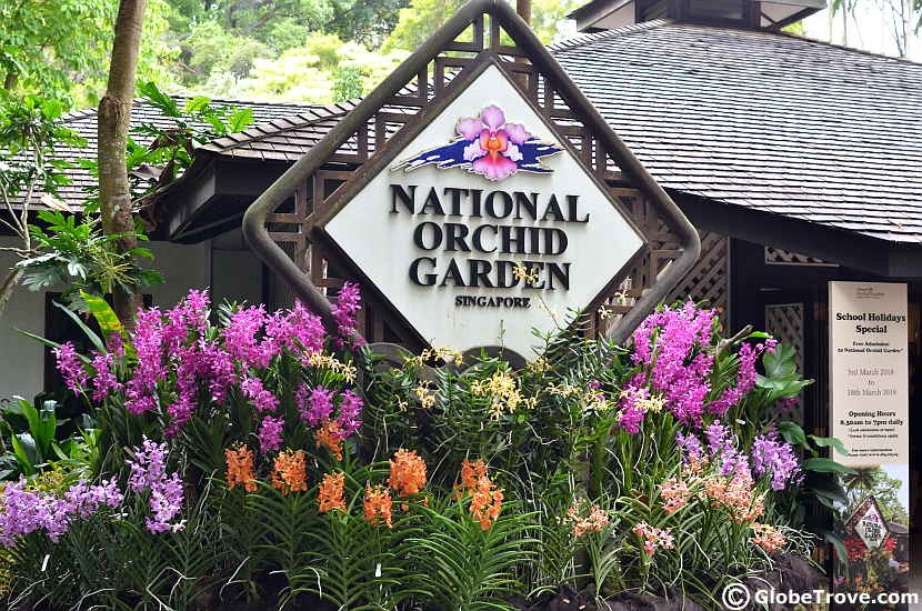 The National Orchid Garden in Singapore Botanic Gardens