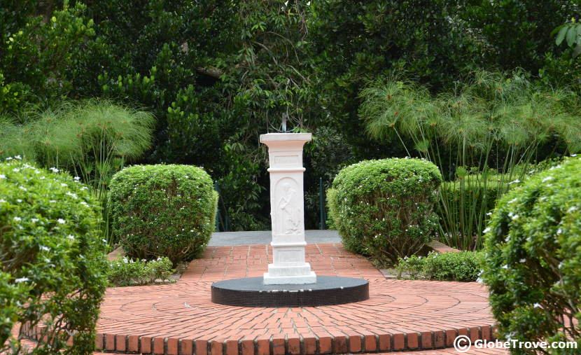 The sundial garden in the Singapore Botanic Gardens.