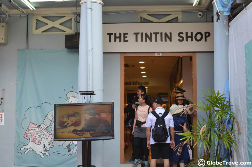 The Tintin Shop in Singapore's Chinatown.