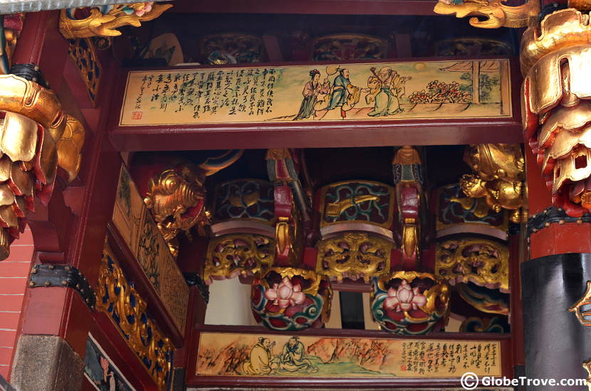 The paintings at the entrance of the Temple of the Heavenly Jade Emperor