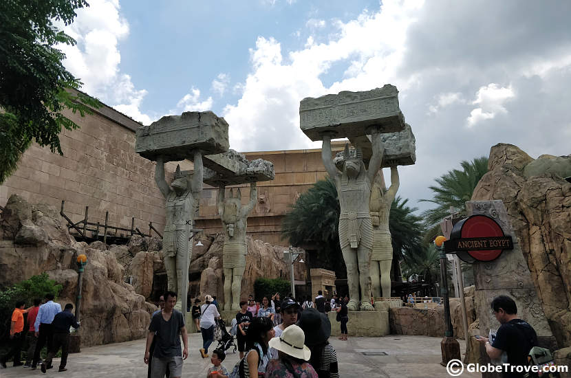 Ancient Egypt in Universal Studios in Singapore