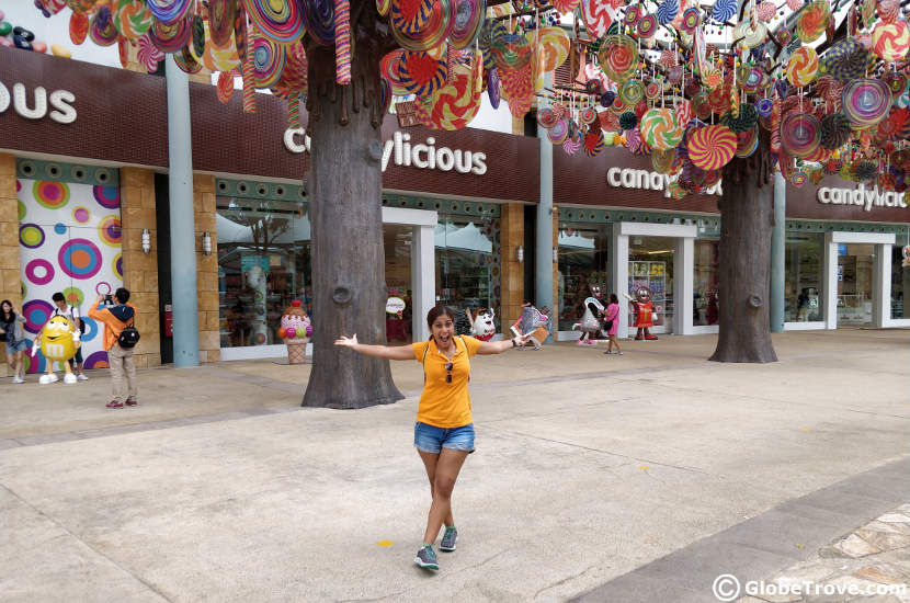Candy shops on Sentosa island in Singapore