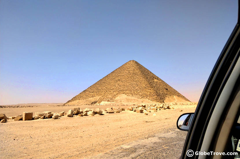 The locations of the Pyramids of Dahshur