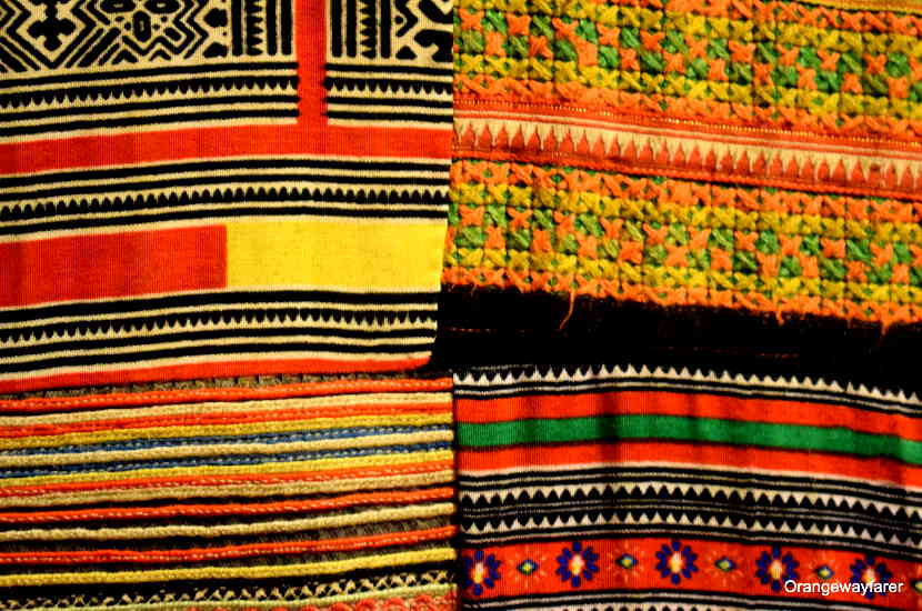 Handwoven fabric by the Hmong tribes