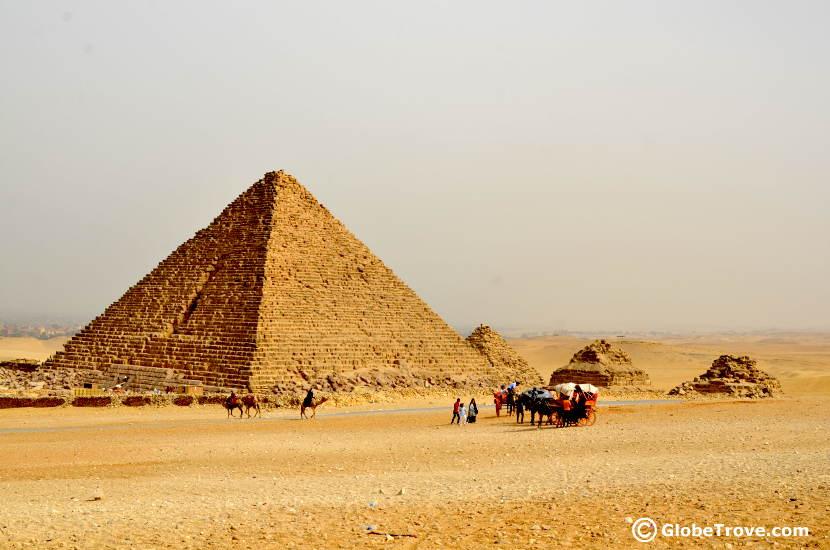 The smaller pyramids of Giza