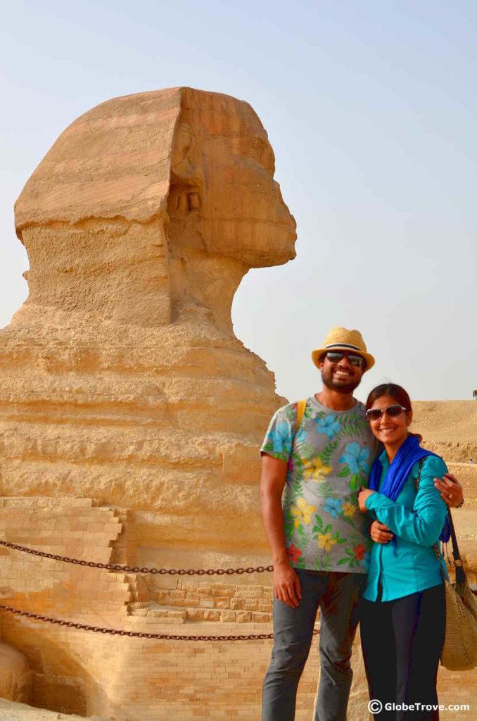 Sphinx at the pyramids of Giza