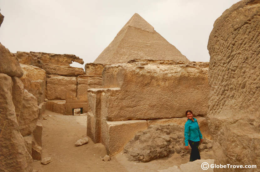 Temples of the pyramids of Giza