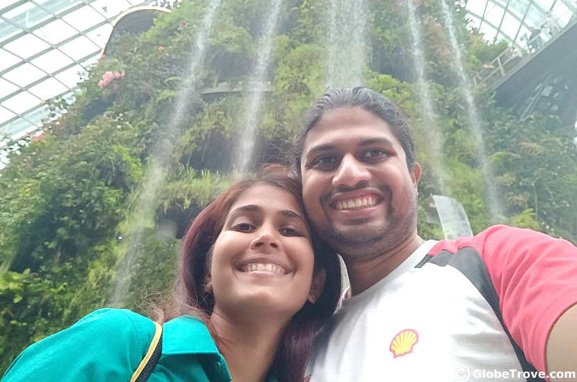 Indoor waterfalls in Singapore