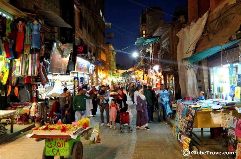 night in the khan el-khalili market