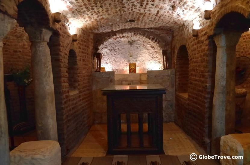 The crypt were Jesus slept