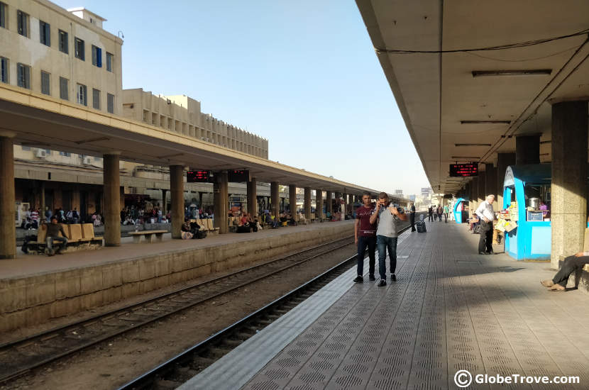 Ramses station on the day we left from Cairo to Alexandria by train
