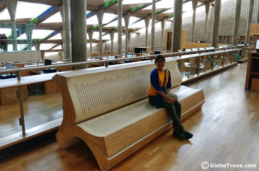 one of the seats in the library