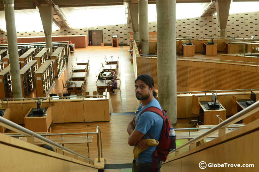 the main building of the Bibliotheca Alexandria