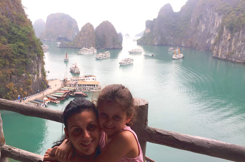 Halong Bay in Vietnam is one of Best Places In South East Asia To Travel With Kids