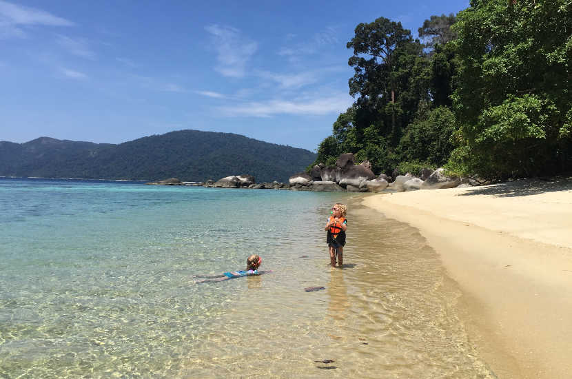 Koh Lipe, Thailand is one of the best places in South East Asia to travel with kids