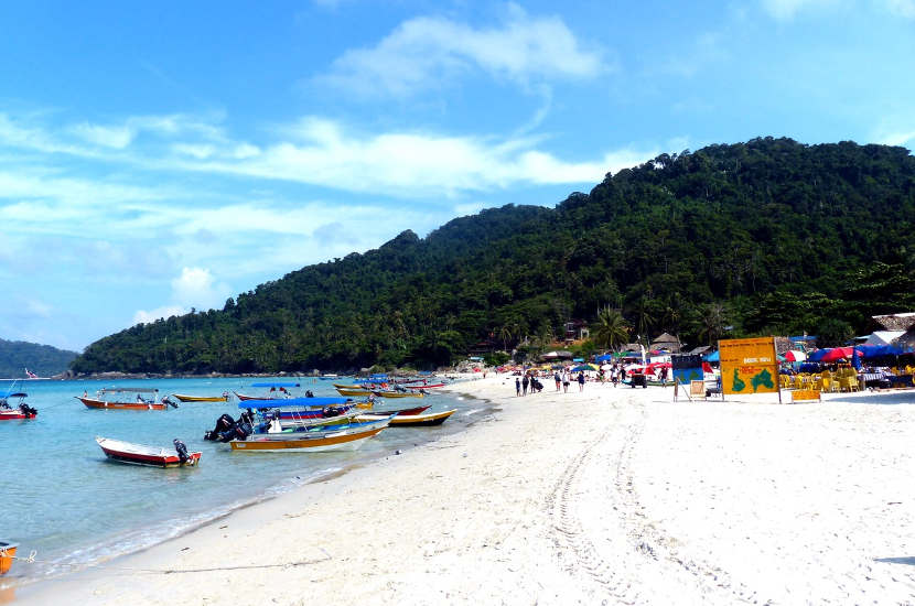 Long Beach is one of the most beautiful beaches in Malaysia