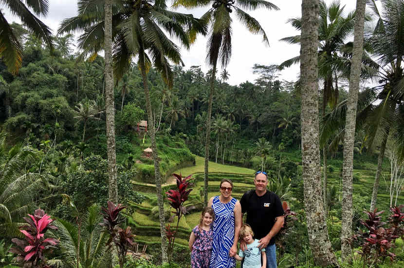 Ubud, Indonesia is one of the best places in South East Asia to travel with kids