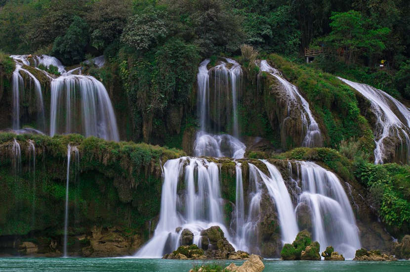 When asked where to go in Vietnam, Josh said Ban Gioc Waterfall