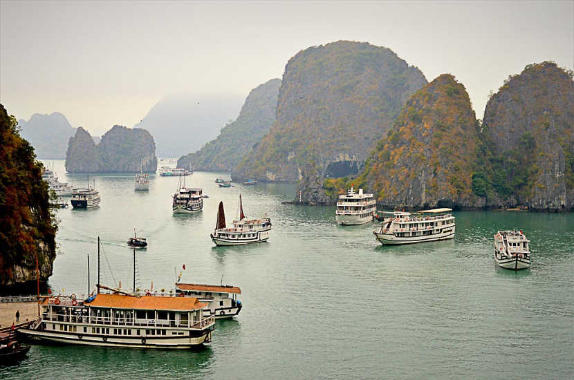 When asked where to go in Vietnam, Melissa said Halong Bay