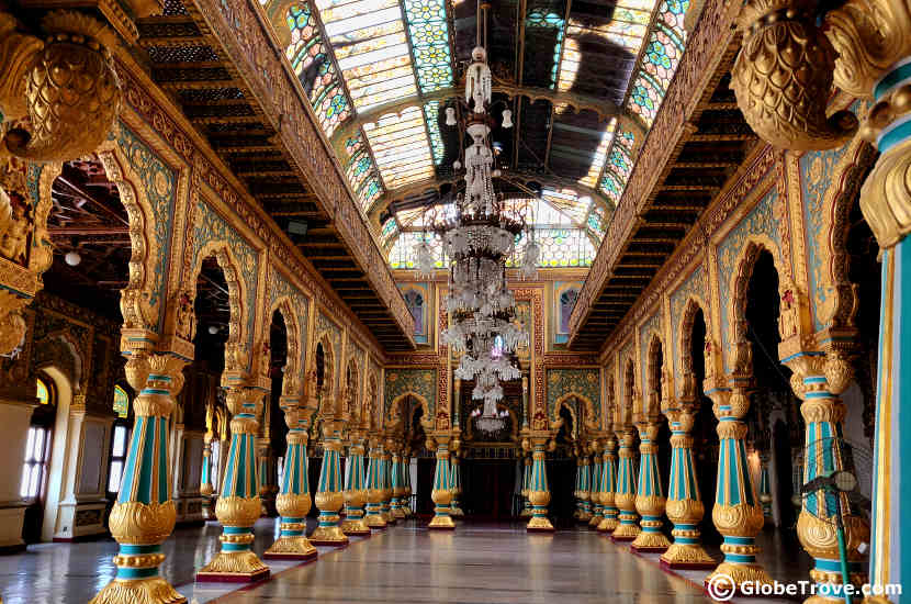 The gorgeous interiors of the Mysore Palace