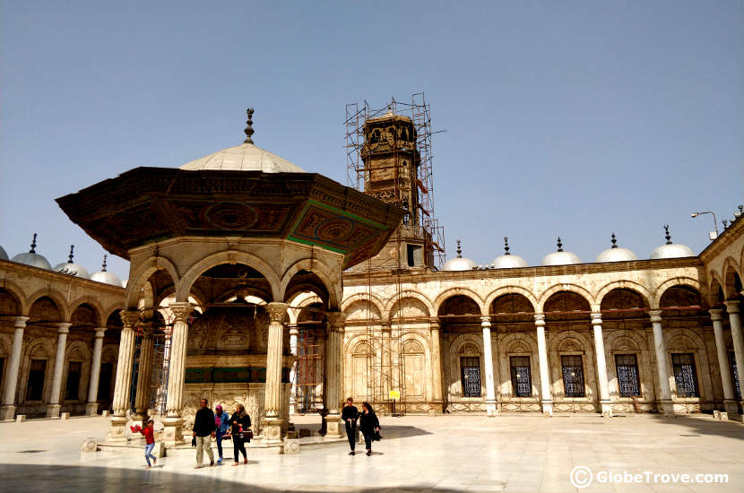 Inside the Mosque of Mohammad Ali in the Saladin Citadel of Cairo