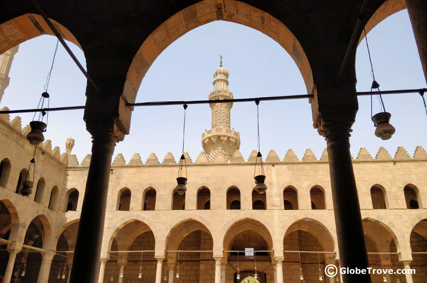 A glimpse inside the Mosque of An-Nasir Mohammed