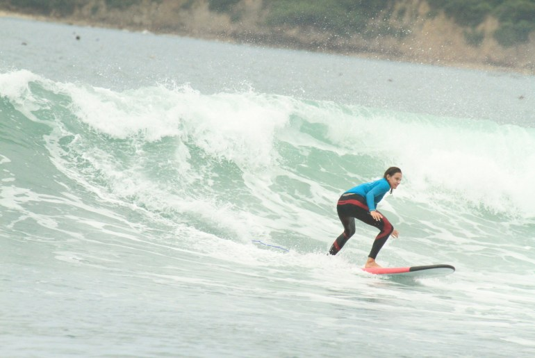 Surfing is one of the popular activities in Kuta Lombok