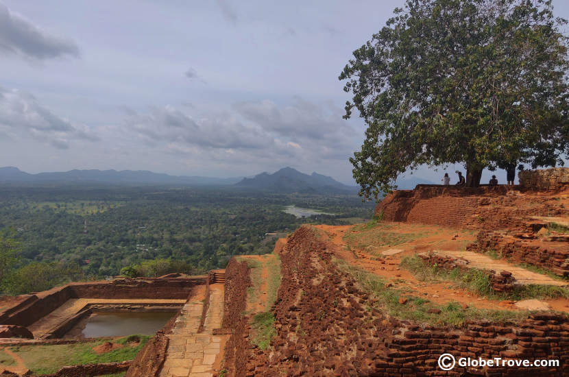 The view is an inspiration to climb to the top of Sigiriya