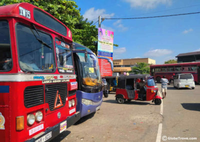 Galle to Tissamaharama by bus