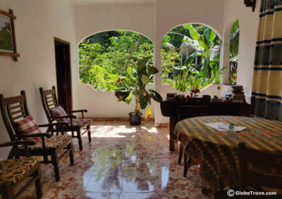 Hansa Villa was our choice of accommodation in Unawatuna