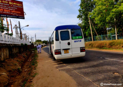 Kandy to Dambulla by bus
