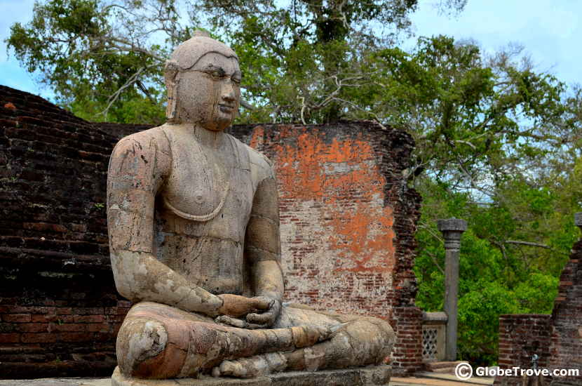 A Buddha in the Sacred quadrangle in Polonnaruwa
