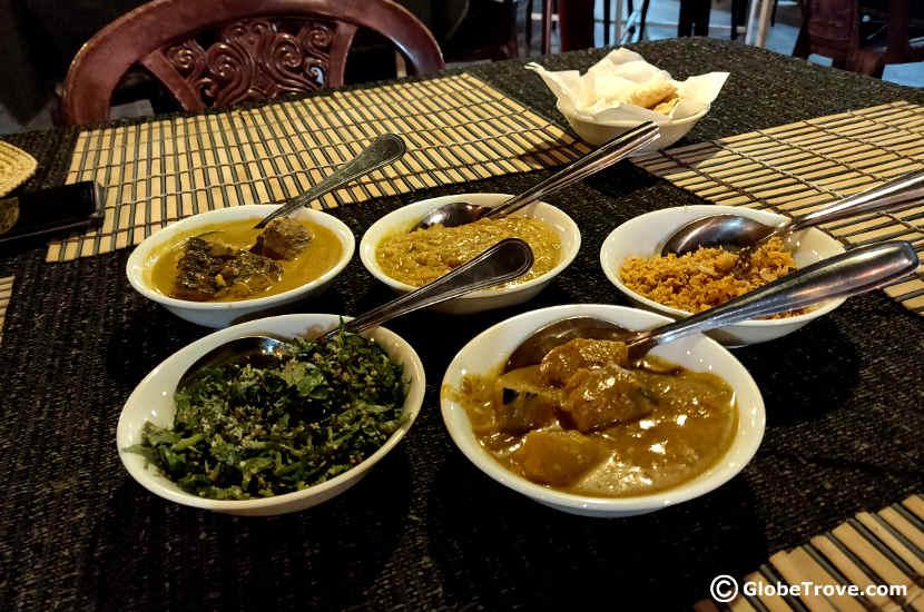 A Sri Lankan meal