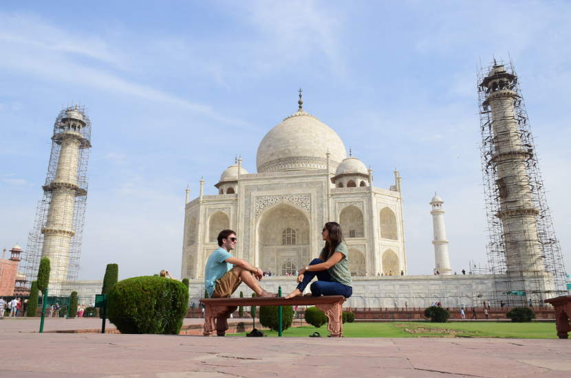 The Taj Mahal is one of the most well known UNESCO heritage sites in India