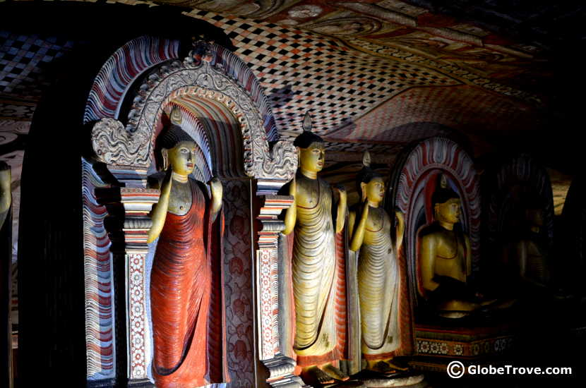 Inside the Dambulla cave temple