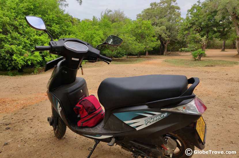 One of the motorbikes we rented as transport in Sri Lanka
