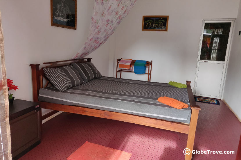 The view of the room in our accommodation in Dambulla.