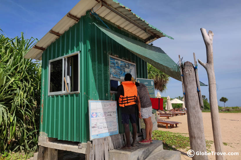 Ticket booth for the permit to Pigeon island