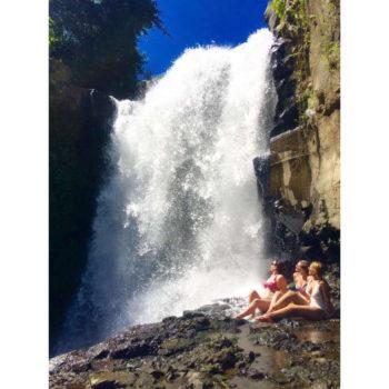 Lounging by Tegenungan waterfall in Bali