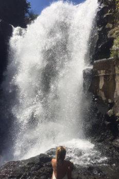 One final pose at Tegenungan waterfall in Bali